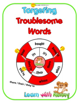 there/their/they're - Targeting Troublesome Words Worksheets UK English