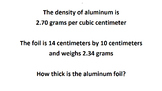 Thickness of aluminum cans through density
