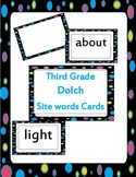 third grade Dolch site words cards