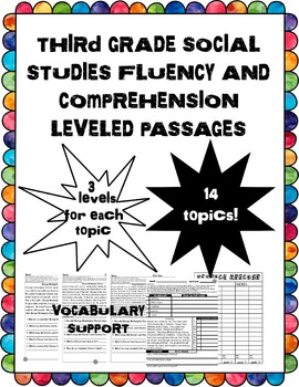third grade social studies fluency and comprehension level