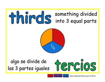 thirds/tercios meas 1-way blue/verde