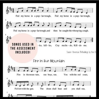 ti-tika Worksheet | Music Assessment & Songs
