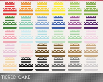 tiered cake Digital Clipart, tiered cake Graphics, tiered