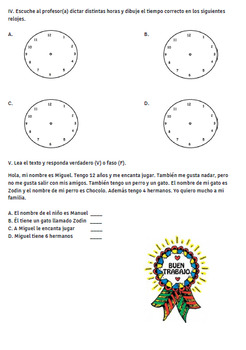 time review / repaso dela hora