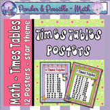 Times Tables Posters ~ Star Theme