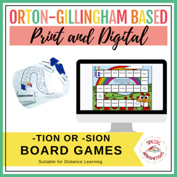 tion or sion? Phonics Board Game and Sort Spring/Summer Literacy Center