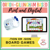 tion or sion? Phonics Board Game and Sort Spring/Summer Li
