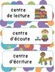 Étiquettes Superhéros pour les centres du primaire