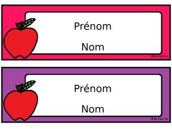 Étiquettes de bureau: Pomme - Gratuit!
