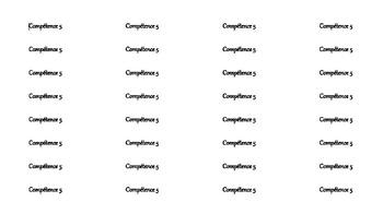 Étiquettes de compétences pour le préscolaire