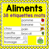 Groupes alimentaires- Nourriture- Étiquettes mots- Food Groups French