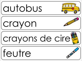 École Étiquettes mots