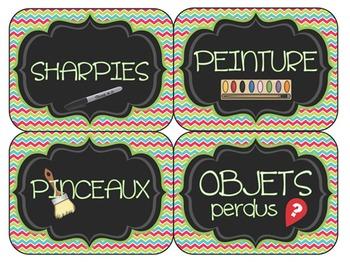 Étiquettes pour la Classe - Affiches
