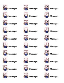Étiquettes pour vos messagers