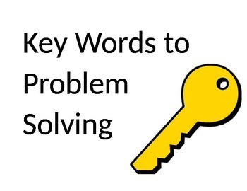 title poster for key words to problem solving