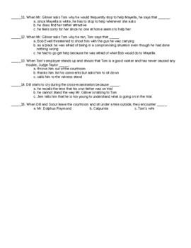 To Kill a Mockingbird Chapter 19  Reading Quiz