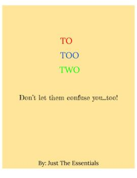 to, too, two