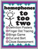 to, too, two homophone activities