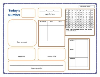 today's number worksheet