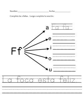 todo sobre la sílaba Ff
