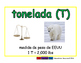 ton/tonelada meas 2-way blue/verde