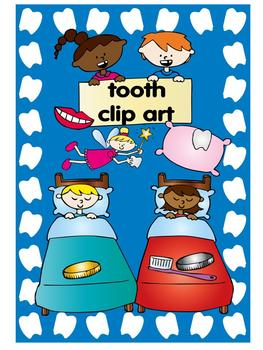 tooth clip art set