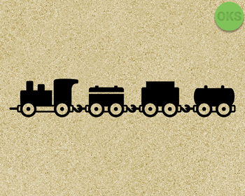 toy train SVG cut files, DXF, vector EPS cutting file instant download