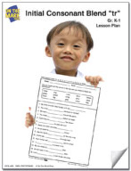 tr Initial Consonant Blend Lesson Plan K-1