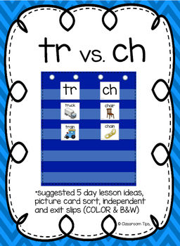 tr vs. ch: Sound Sort (COLOR & BW)