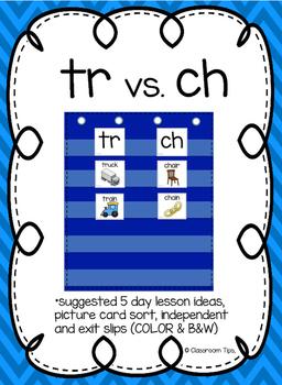 tr vs. ch: Sound Sort (COLOR & BW)