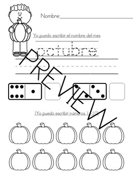 trabajo de la manana octubre (october morning work-spanish)