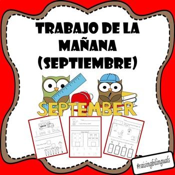 trabajo de la manana septiembre (September morning work-spanish)