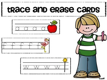 trace and erase alphabet cards