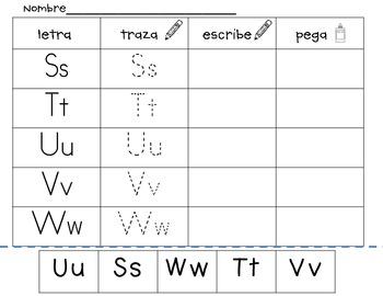 trace, write and build- actividades de alfabeto prescolar