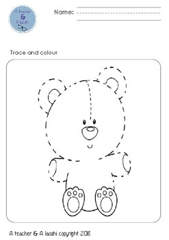 tracing and colouring for pre-kinder