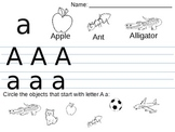 tracing letters a to z