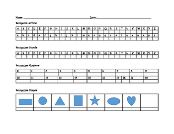tracking template for identification of letters, sounds, and numbers