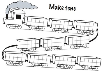 train game using tens frames