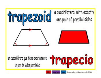 trapezoid/trapecio geom 1-way blue/rojo