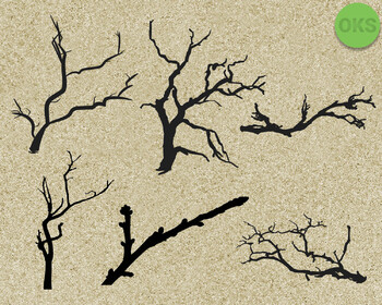 tree branch SVG cut files, DXF, vector EPS cutting file instant download