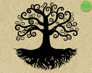 tree of life SVG cut files, DXF, vector EPS cutting file instant download