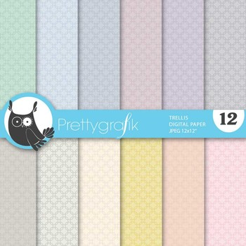 trellis digital paper, commercial use, scrapbook papers, background - PS639
