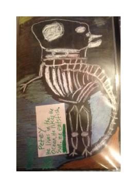 tri-fold skeleton cooperative art activity