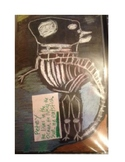 tri-fold skeleton cooperative art activity