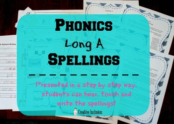Vowel Team Spelling and Reading Lessons for Long A