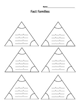 triangle fact families