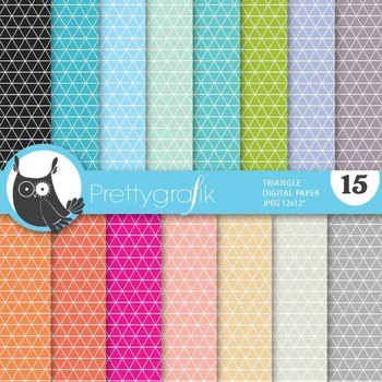triangle geometric digital paper, commercial use, scrapbook papers - PS638