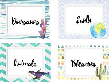 Tribal Theme Classroom Library Labels