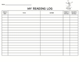 tropical themed reading log