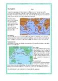 tsunamis worksheet